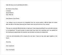 two weeks notice resignation letter template free ms word as per term and condition of employment example resignation letter two weeks notice 300x267
