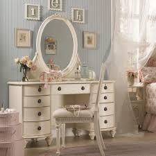 Emmas Treasures Nine-Drawer Desk & Oval Mirror Vanity Combination by Lea  Industries - Wolf