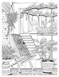 Resultado De Imagem Para Bohemian Patio Design Adult Coloring Page
