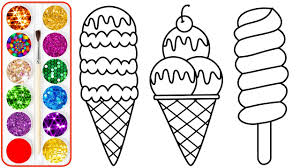 photo coloring page. Plain Coloring Ice Cream Drawing U0026 Coloring For Kids  Pages Children Babies  Toddlers In Photo Page O