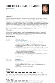 Associate Editor Resume Samples - Visualcv Resume Samples Database