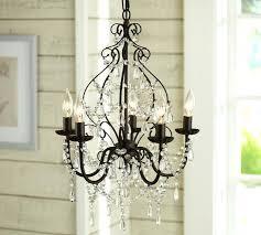 iron and crystal chandelier pottery barn 19th c rococo medium