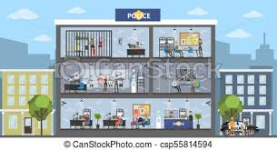 police station building clipart. Beautiful Police Police Station Building  Csp55814594 To Station Building Clipart R