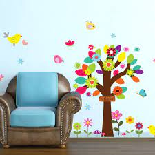 Colorful tree 3D Wall Sticker Home ...