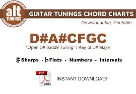 Guitar Tunings Chord Charts D A Cfgc
