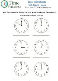 Time Math Worksheets with Clock Faces #5   Time Worksheets Org