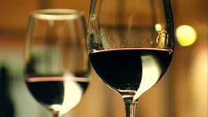 fine dining glasses. footage of stylish wine glasses for high quality tasting in fine dining winery with x