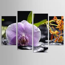 hot frame 4pcs set beautiful purple orchid wall art wall decoration home decoration canvas canvas on purple orchid wall art with hot frame 4pcs set beautiful purple orchid wall art wall