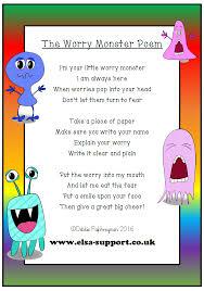 Worry Monster Poem - Elsa Support