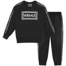 Young Versace Size Chart Young Versace Boys Black Tracksuit