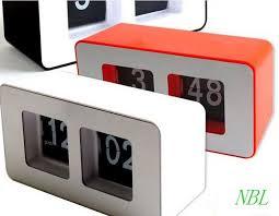 digital auto flip desk clock classic stylish retro desktop flip page alarm clocks household bedroom study