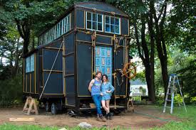 tiny house retirement community. Brandon Batchelder, Chloe Barcelou And Their Tiny House Contraption. Retirement Community M