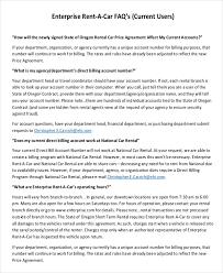 Enterprise Rental Agreement 8 Free Word Pdf Documents Download