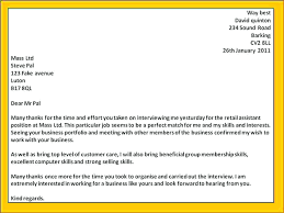 Interview Thank You Letter Examples 2 Email Template Post 4 Sample
