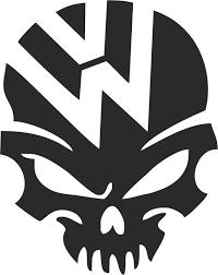 volkswagen logo vector. Beautiful Volkswagen VW Volkswagen Logo Skull Vector Free With G