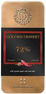<b>Шоколад горький Golden Dessert</b> Кайенский перец 72% 100г оптом