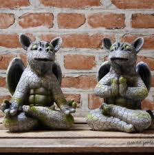 new stone effect garden dragon ornament sculpture cute