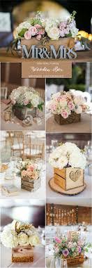 rustic country wooden box wedding centerpieces head table wedding decorations diy party centerpieces