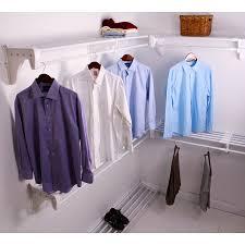 ez shelf 3 33 ft to 30 8 ft x 12 in white wire closet kit