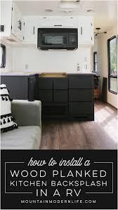 installing laminate flooring in rv new wood planked kitchen backsplash