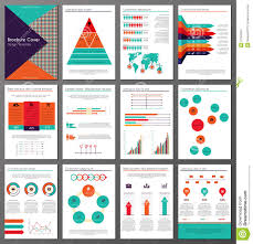 Flyer Template For Pages Infographic Brochure And Flyer Design Templates Set Stock