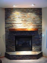 image of stacked stone veneer fireplace