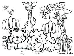 Safari Animals Printable Coloring Pages Carriembeckerme