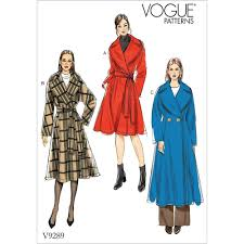 Coat Sewing Patterns Gorgeous Misses WideCollar Coat And Belt Vogue Sewing Pattern 48 Sew