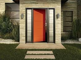 best exterior doors canada reviews a modern orange residential steel door with black best exterior doors best exterior doors canada