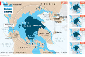 Polar Routes Charts The Decline Of Arctic Sea Ice Daily Chart