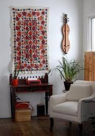 turn a rug into a wall art tapestry