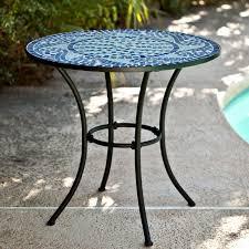 42 mosaic tile patio table c coast marina mosaic bistro table patio dining loona com