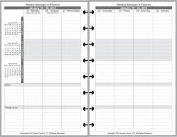 Franklin Covey Project Management Template Filofax August 2013 Two