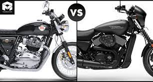 compare harley davidson street 750 and