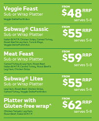 Catering Menu Subway Com New Zealand English