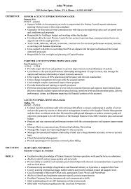 Operations Manager Resume Examples Account Operations Manager Resume Samples Velvet Jobs 19