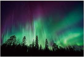 Purple Northern Lights Background