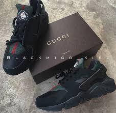 gucci 8s. black gucci huaraches 8s