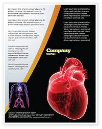 Microsoft Word Hearts Model Of Heart Flyer Template Background In Microsoft Word
