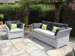 image of modern white wicker outdoor furniture