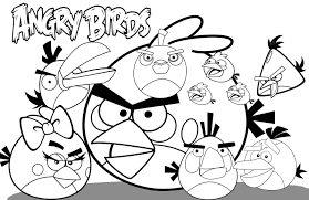easy colouring in pages printable angry bird sheets timiz conceptz co