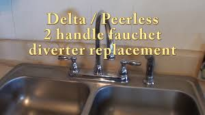 beautiful inspiration two handle kitchen faucet repair delta rless 2 diverter replacement rp41702 you kits moen