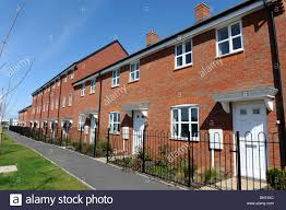 Modern terraced houses at Trench in Telford Shropshire uk