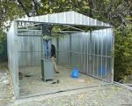 Как построить гараж с профнастила