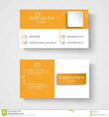 Modern Sample Orange Business Card Template Stock Vector