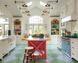 eclectic home office alison. Blue And Green Argyle Floor In Colorful Kitchen Eclectic Home Office Alison