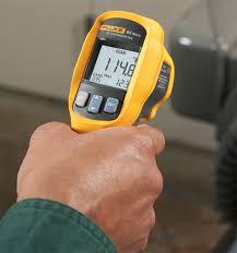 fluke laser thermometer. fluke 64 max ir thermometer in-hand laser