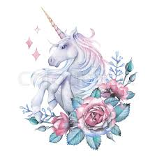 Cute Watercolor Design With Pastel Stock Photo Colourbox