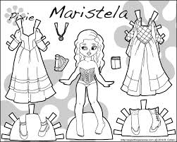 Small Picture 45 best Pixie Paper Dolls in Black and White images on Pinterest