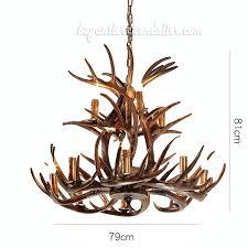 vintage cast deer antler chandelier 8 4 cascade 2 tiers ceiling lights pendant lighting uk elk deer antler chandelier